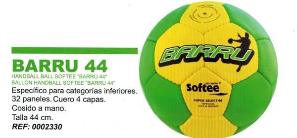 Lote 6 Balones Balonmano Junior SOFTEE BARRU 44